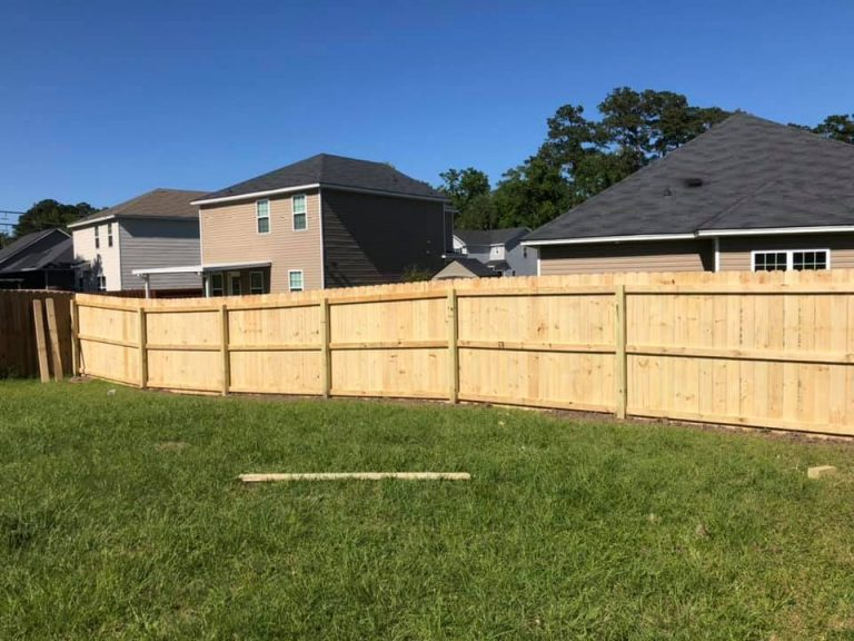 New Wood Fence Build