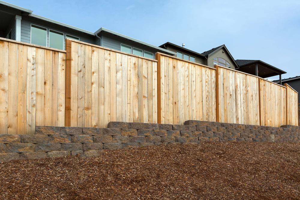 New Wood backyard fence
